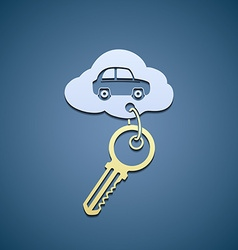 Key from the car vector image vector image