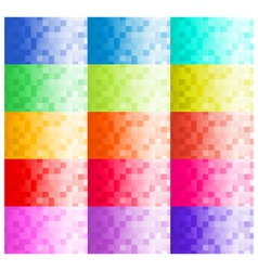 Pixel Business Card Templates vector image vector image