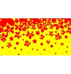 abstract background from red flowers vector image vector image
