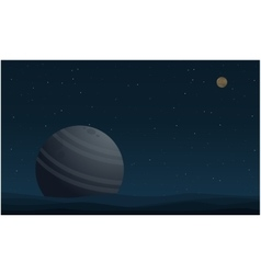 Beauty landscape outer space with planet vector image