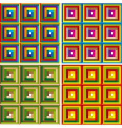 colorful squares seamless pattern set vector image