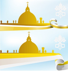 vatican background vector image vector image