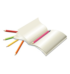 Book with pencils vector image