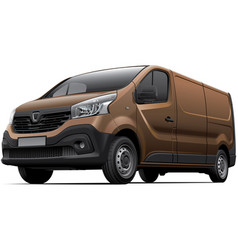 brown light commercial vehicle vector image vector image