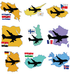 fly me to the Costa Rica Cyprus Czech Republic Egy vector image vector image