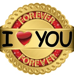 Happy Valentines Day I love you forever vector image