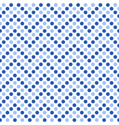 Seamless pattern zigzag with blue polka dots vector image