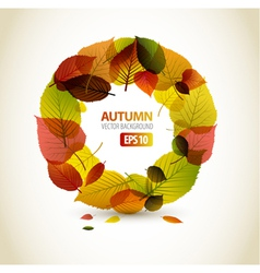 autumn abstract floral vector image vector image