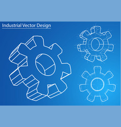 design and manufacture of gears vector image