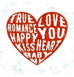 Grunge heart vintage stamp vector image vector image
