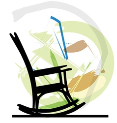 Rocking chair vector image vector image