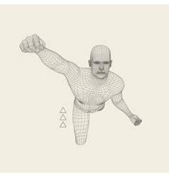 3D Model of Man Polygonal Design 3d grid vector