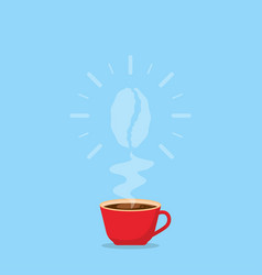 a cup hot coffee with a rising aroma coffee vector image