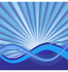 abstract background with waves illustration vector image