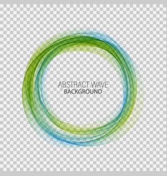 Abstract blue green swirl circle bright vector