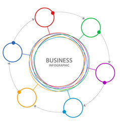 abstract business circle infographics vector image