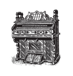 ancient piano vector image