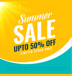 awesome summer sale bright background vector image