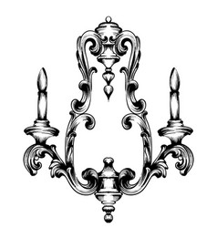 Baroque wall lamp french luxury rich vector