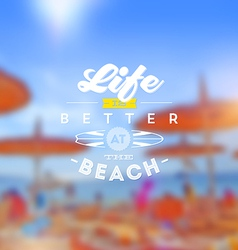 Beach vacation type design vector image