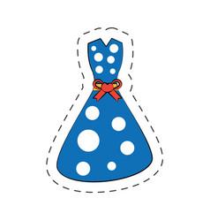 Beuty dress cartoon comic vector