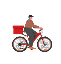 bicycle food delivery services flat vector image