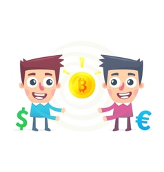 Bitcoin Exchange vector image