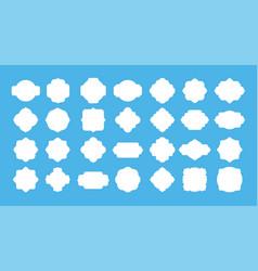 blank frame label vintage empty badge shapes vector image