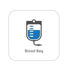 Blood Bag and Medical Services Icon Flat Design vector