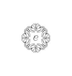 c letter logo monogram design elements line art vector image