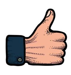 Cartoon image of like icon like symbol vector