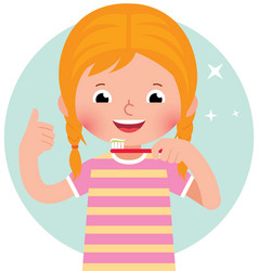 cartoon of a cute little girl vector image