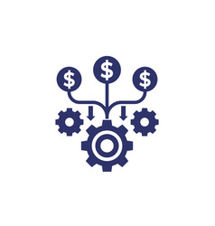 Cash flow funds or costs optimization icon vector