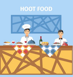 Catering service flat color vector