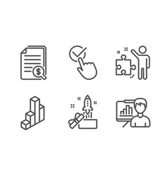 Checkbox financial documents and innovation icons vector