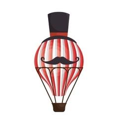 Circus balloon air hot icon vector