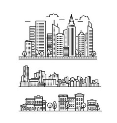 City landscape pattern vector