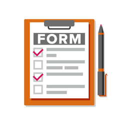 Claim form business document accident vector