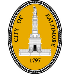Coat arms baltimore city in maryland usa vector