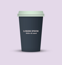 Coffee to go paper coffee cup vector