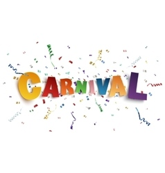 Colorful handmade typeface carnival vector
