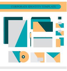 corporate identity design template vector image