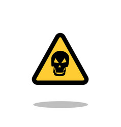 danger sign skull sign on a white background vector image