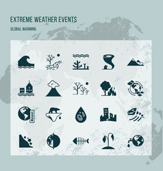 Different variants of environmental icons on the vector