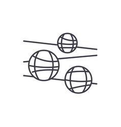 disco balls line icon concept disco balls vector image