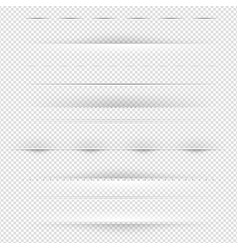 dividers and shadows big set transparent vector image
