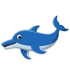 Dolphin cartoon for you design vector