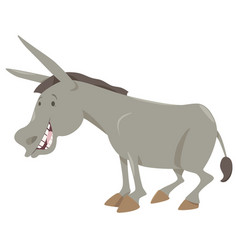 donkey cartoon animal vector image