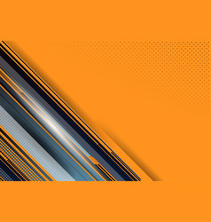 dot and stripe orange background vector image