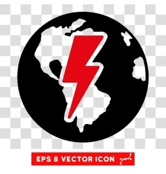 Earth Shock Eps Icon vector